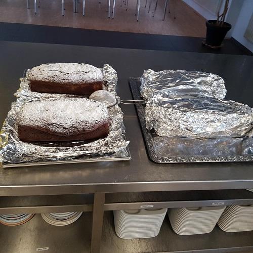 Kuchen als Nachtisch für die Obdachlosen