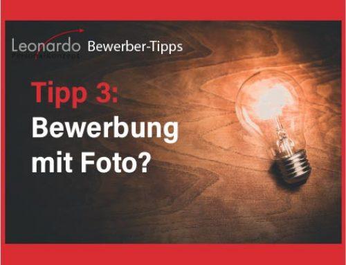 Bewerber-Tipp 3: Bewerbung mit Foto?