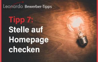 Tipp 7: Homepage checken
