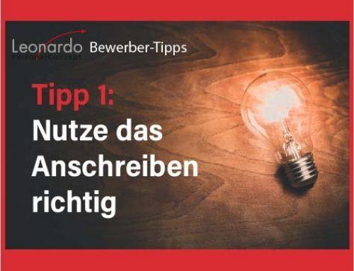 Bewerber-Tipp 1: Anschreiben richtig nutzen
